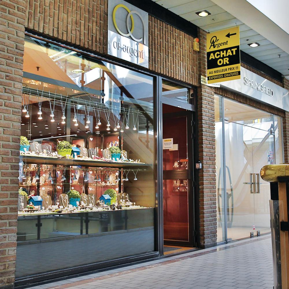 Photo extérieur de la bijouterie de Liège