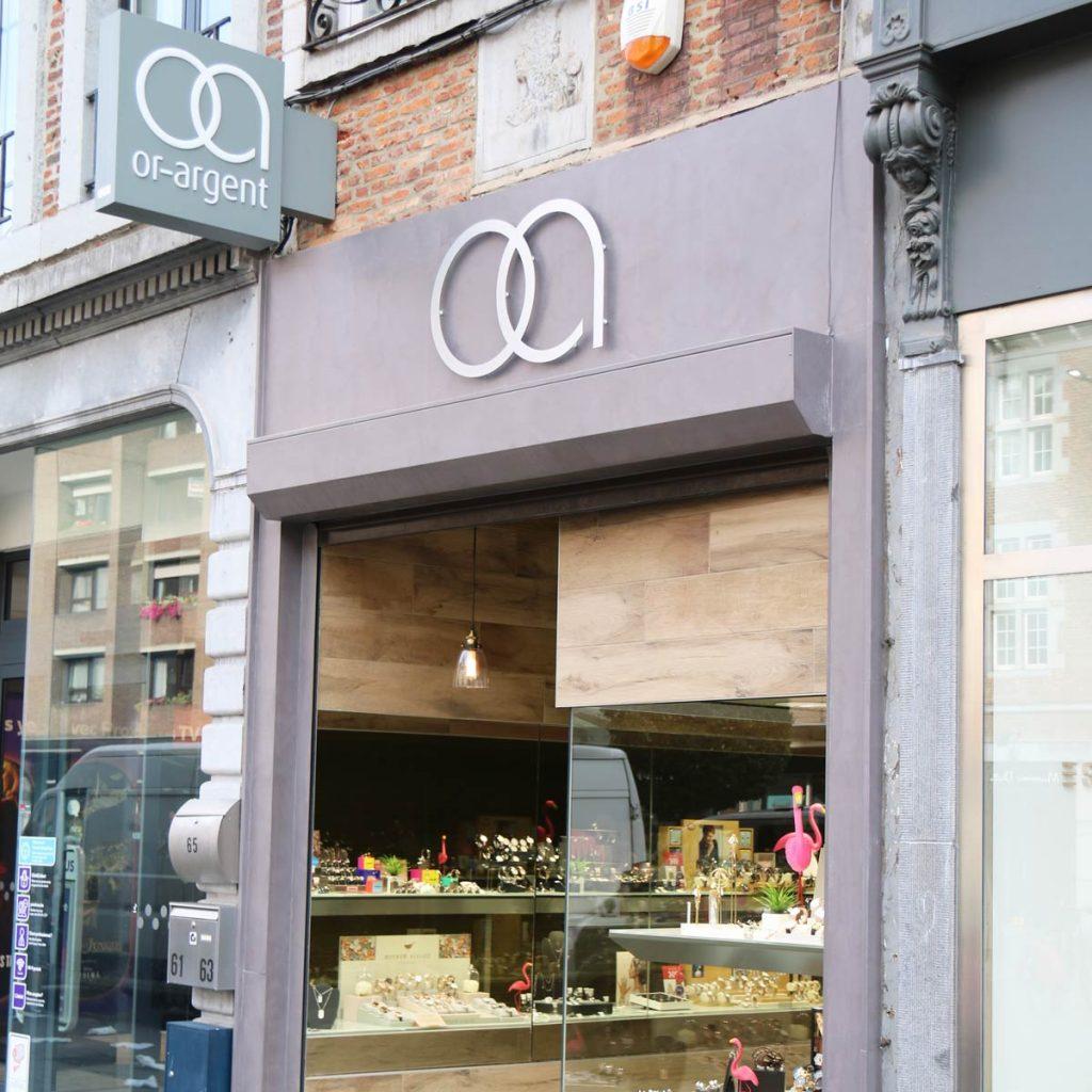 Photo extérieur de la bijouterie de Namur