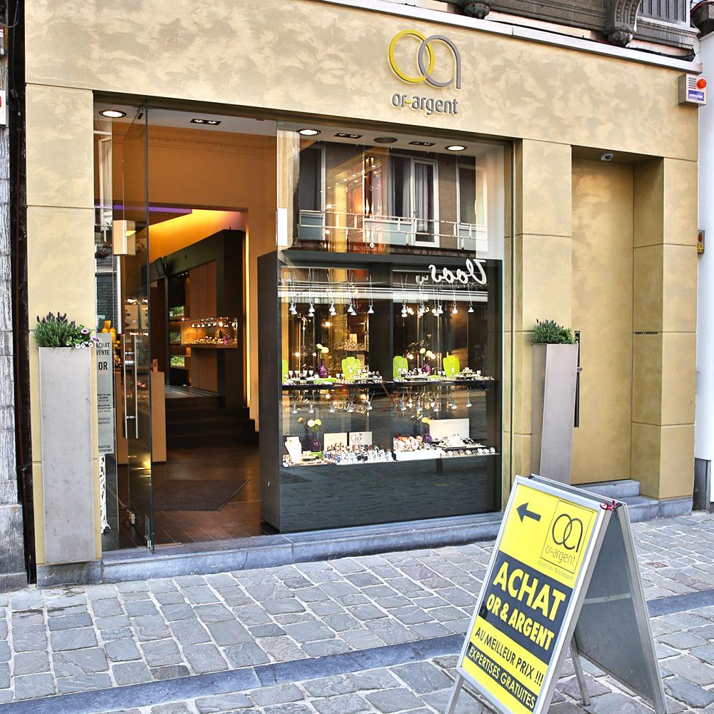 Photo extérieur de la bijouterie de Verviers
